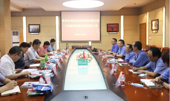 四川省政协张雨东副主席等领导走访成都彩虹集团